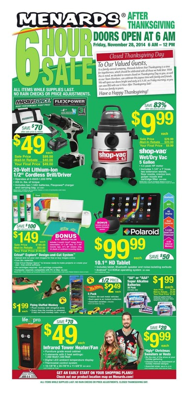 Menards black friday ad 2014 page 01