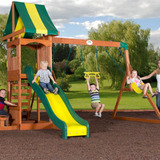Backyard discovery weston cedar swing set walmart.com