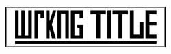 Wrkng title logo