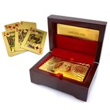 24kt gold plated playing cards   carry case
