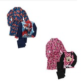 Kids  license character 3 piece robe set