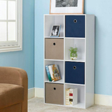 Hampton bay stackable 8 cube organizer with drawers in white  4 pack  eh csthd 028b at the home depot 2013 11 29 05 45 40