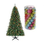 Holiday christmas tree and ornament value bundle