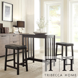Tribecca home nova black 3 piece kitchen counter height dining set ada2b30b 6f8b 4cfe 8ba0 3c91afcb5476 600