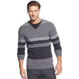 Alfani sweater  v neck roadmap striped sweater   sweaters   men   macy s 2013 12 10 10 07 17