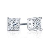 Princess 1 4 ctw stud diamond earrings netaya