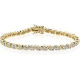 Diamond Tennis Bracelet in 14k Gold $19