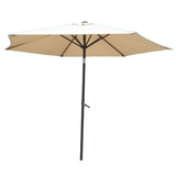 International caravan aluminum tilt and crank 8 foot outdoor umbrella   overstock
