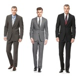 Kenneth cole reaction suit grey mini stripe slim fit