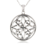 Celtic knot round pendant necklace