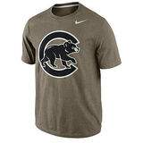 Nike men s chicago cubs mlb seasonal logo tri blend short sleeve t shirt   sportsauthority