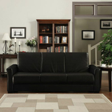 Baja renu leather convert a couch and sofa bed  multiple colors  furniture   walmart