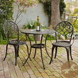 Overstock christopher knight home angeles cast aluminum outdoor bistro furniture set with ice bucket