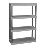 Plano 4 shelf heavy duty plastic storage unit   walmart
