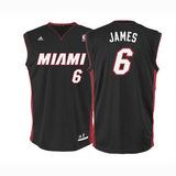 Modells adidas miami heat adult lebron james replica black jersey