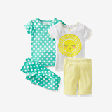 4pc toddler girls polka dot sunshine pajamas set
