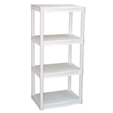 Plano 4 tier heavy duty plastic shelves   walmart