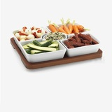 Home essentials 6 piece ceramic rectangular lazy susan