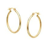 14K Gold over Sterling Silver Hoops $10