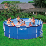 Intex metal frame swimming pool at walmart
