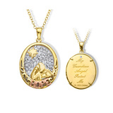 14K Gold Angel Medallion Pendant $15 + FS