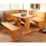 3Pc Wood Breakfast Nook Set $154 Shipped