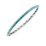 Swarovski & Sterling Silver Bangle $27
