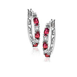 Ruby & Diamond Accent Earrings $17 + FS
