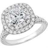 1ctw Double Halo Engagement Ring $800+FS