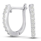 1/4ct CZ Hoop Earrings $20 Shipped
