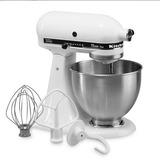 Kitchenaid ksm75 4 5qt mixer white
