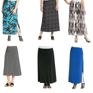 AGB Plus Size Challis Maxi Skirt which was $58.00 originally has now been reduced to a sale price of $34.80