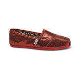 Journeys toms glitter slip ons