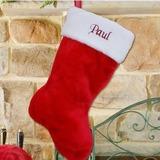 Red plush stocking 11 10 14