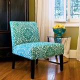 Angelo home bradstreet modern damask turquoise blue upholstered armless chair overstock shopping great deals on angelohome living room chairs