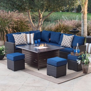 Patio set fire pit 1 530 shipped for Best deals on patio sets
