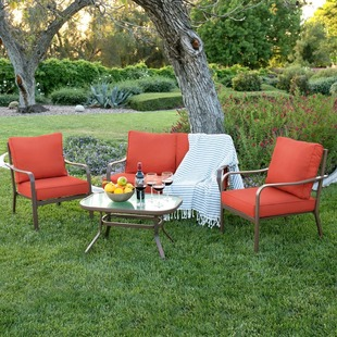 Delightful 4pc Cushioned Patio Set $200 Shipped